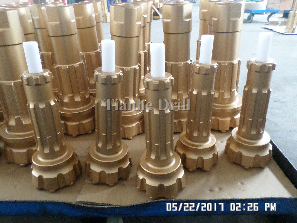 10-24 Bar Pressure DHD340 DTH Drill Bits , Reliable Rock Drill Accessories